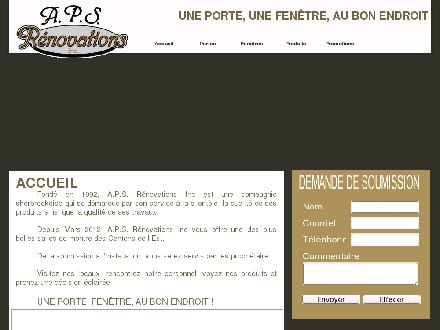 A P S Rénovations Inc (819-563-6877) - Onglet de site Web - http://www.apsrenovations.ca