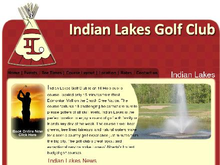 Indian Lakes Golf Club (780-470-4653) - Onglet de site Web - http://www.indianlakesgolfcourse.com