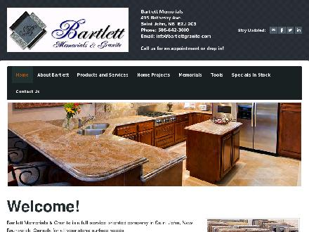 Bartlett Memorials Ltd (506-642-3000) - Onglet de site Web - http://www.bartlettgranite.com