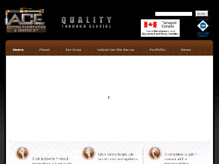 Ace Custom Fabrication and Controls Ltd (403-213-9156) - Website thumbnail - http://www.acecustomfabrication.ca