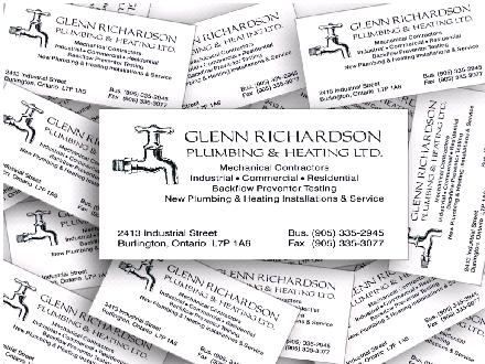 Glenn Richardson Plumbing & Heating (905-335-2945) - Website thumbnail - http://www.glennrichardsonplumbing.com