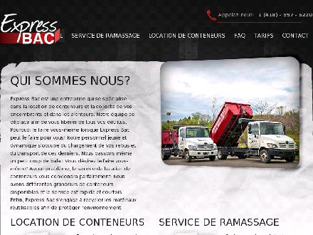 Express Bac (418-800-7032) - Onglet de site Web - http://www.expressbac.com