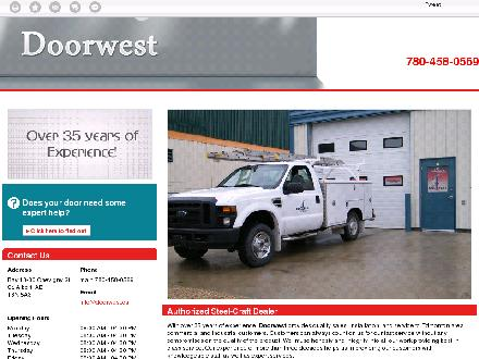 Doorwest (780-458-0569) - Website thumbnail - http://www.doorwest.ca