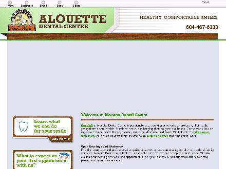 Alouette Dental Centre (604-467-6333) - Onglet de site Web - http://alouettedental.ca/