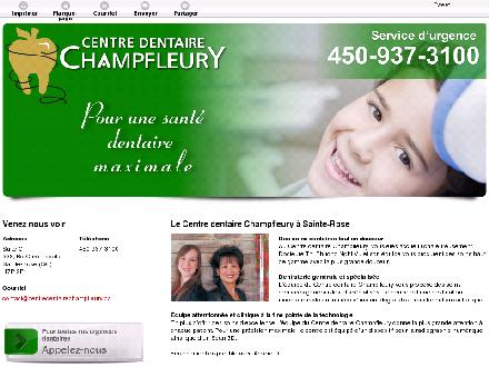 Centre Dentaire Champfleury (450-937-3100) - Website thumbnail - http://centredentairechampfleury.ca/