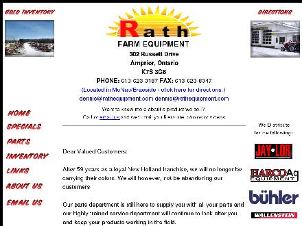 Rath Farm Equipment Limited (613-623-3187) - Website thumbnail - http://www.rathequipment.com