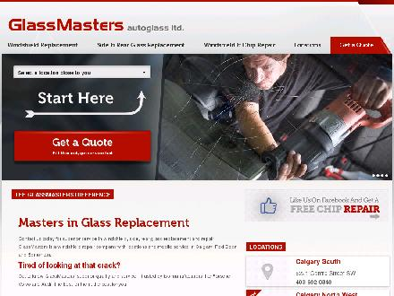GlassMasters Autoglass Ltd (403-727-0212) - Website thumbnail - http://www.glassmastersautoglass.ca
