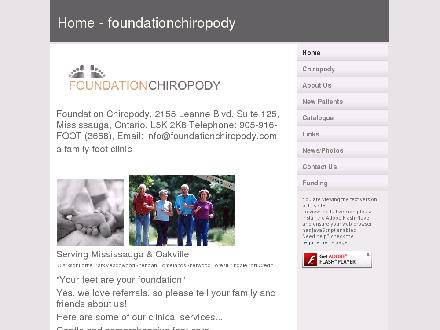 Foundation Chiropody (905-916-3668) - Onglet de site Web - http://www.foundationchiropody.com