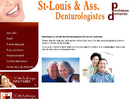 Cliniques De Denturologie St-Louis & Ass (514-374-7224) - Onglet de site Web - http://www.denturologistesstlouis.com