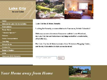 Lake City Inn & Suites (604-294-5331) - Onglet de site Web - http://www.lakecityinnandsuites.com