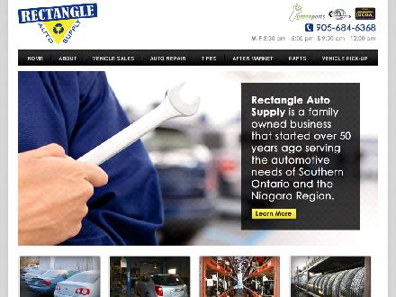 Rectangle Auto Supply Ltd (905-684-6368) - Onglet de site Web - http://www.rectangleautosupply.com