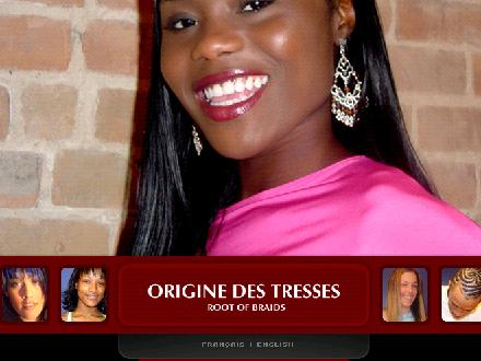Origine des Tresses (514-835-8217) - Website thumbnail - http://www.originedestresses.com