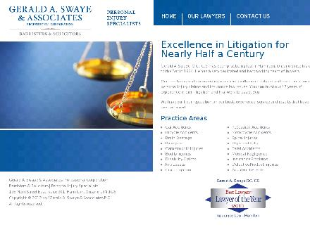 Swaye Gerald A QC Personal Injury Lawyer (905-524-2861) - Onglet de site Web - http://www.swaye.ca