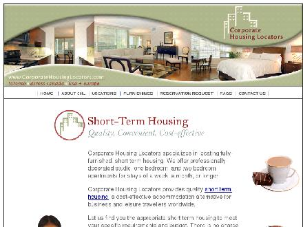 Corporate Housing Locators (416-502-9909) - Website thumbnail - http://www.corporatehousinglocators.com