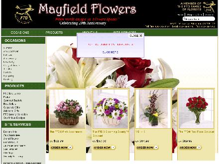 Mayfield Flowers (780-489-8448) - Onglet de site Web - http://www.mayfieldflowers.com