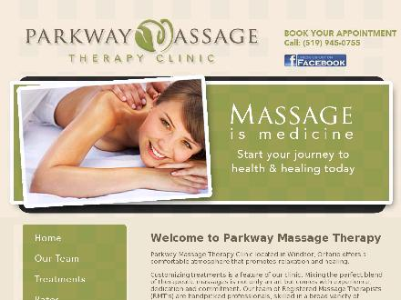 Parkway Massage Therapy Clinic (519-945-0755) - Website thumbnail - http://www.massageismedicine.ca