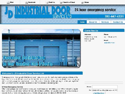 J D Industrial Door Service Ltd (780-447-4331) - Website thumbnail - http://jddoors.net