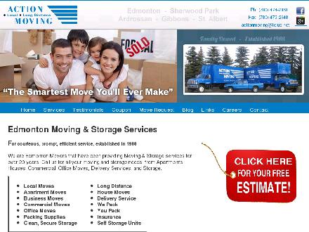 Action Moving & Storage (780-392-9813) - Onglet de site Web - http://www.actionmoving.ca
