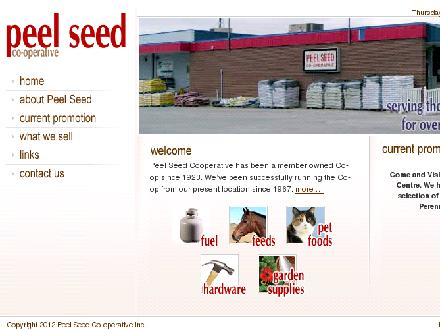 Peel Seed Co-op (905-846-2211) - Website thumbnail - http://www.peelseed.ca/