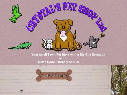 Crystal's Pet Shop (306-457-2442) - Onglet de site Web - http://www.crystalspetshop.com