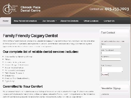 Chinook Plaza Dental Centre (403-767-0043) - Onglet de site Web - http://www.chinookdental.com
