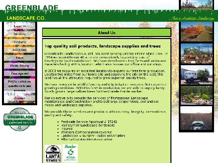 Greenblade Landscape Co Ltd (780-357-3930) - Onglet de site Web - http://www.greenblade.ab.ca