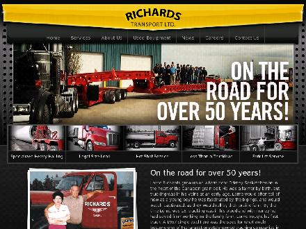 Richards Transport Ltd (780-792-0944) - Website thumbnail - http://www.richardstransport.com
