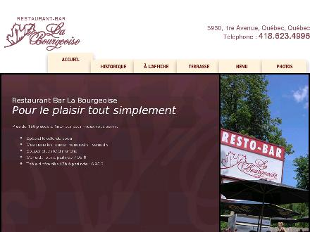 Bar Restaurant La Bourgeoise (418-623-4996) - Website thumbnail - http://www.labourgeoise.qc.ca