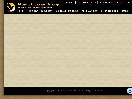York Cemetery And Visitation Centre (416-221-3404) - Website thumbnail - http://www.mountpleasantgroup.com