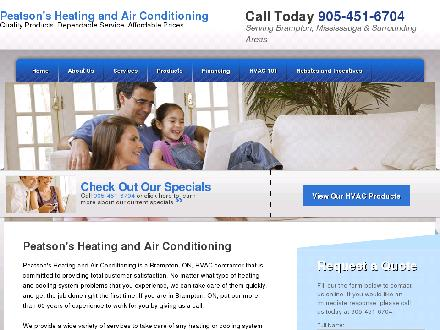 Peatson's Heating & Air Conditioning Ltd (289-801-3013) - Onglet de site Web - http://www.peatsonsheatair.com