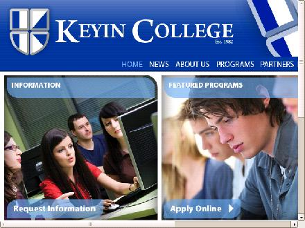 Keyin College (709-579-1061) - Onglet de site Web - http://www.keyin.com