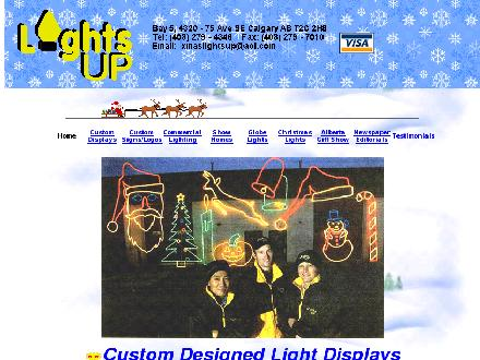 Lights Up (403-279-4346) - Website thumbnail - http://www.xmaslightsup.com