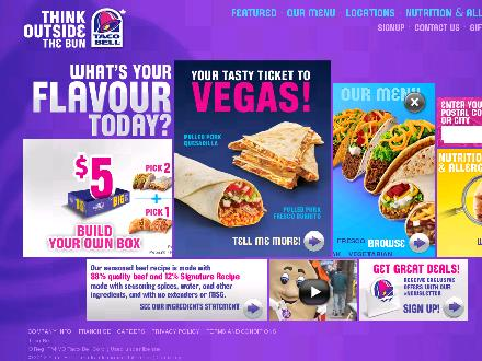 KFC/Taco Bell - Winnipeg (204-987-8313) - Onglet de site Web - http://www.tacobell.ca