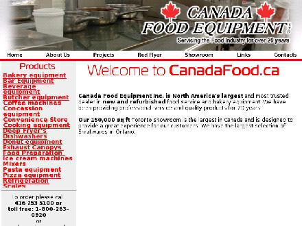 Canada Food Equipment Ltd (416-253-5100) - Onglet de site Web - http://www.canadafood.ca