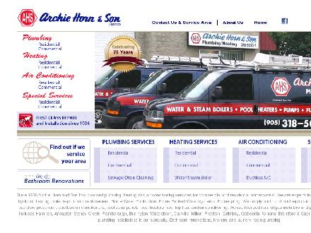 Archie Horn &amp; Son Ltd (905-318-5020) - Onglet de site Web - http://www.archiehorn-son.com