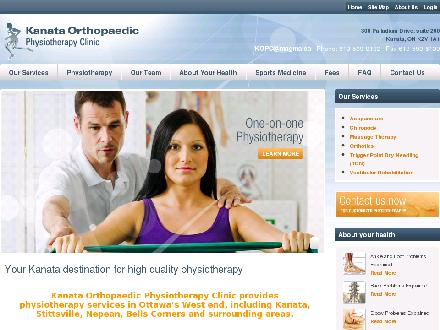 Kanata Orthopaedic Physiotherapy Clinic (613-909-7316) - Website thumbnail - http://www.kanataphysiotherapy.com