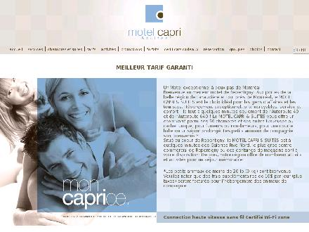 Motel Capri (450-581-2282) - Website thumbnail - http://www.motelcapri.com