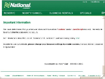 National Car Rental (1-800-327-2501) - Website thumbnail - http://www.nationalcar.ca/index.do?iataNumber=NC001487&affiliateRes=Y&cm_mmc=Yellowpages.ca-_-IYP