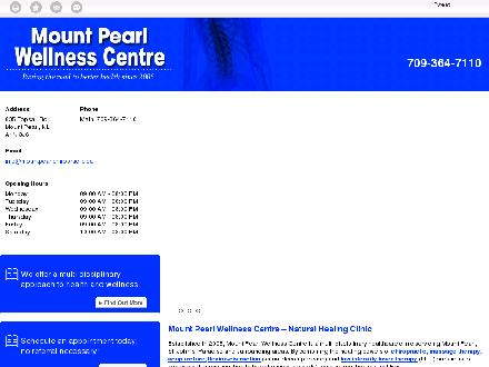 Mount Pearl Wellness Centre (709-364-7110) - Website thumbnail - http://mountpearlchiropractic.ca/