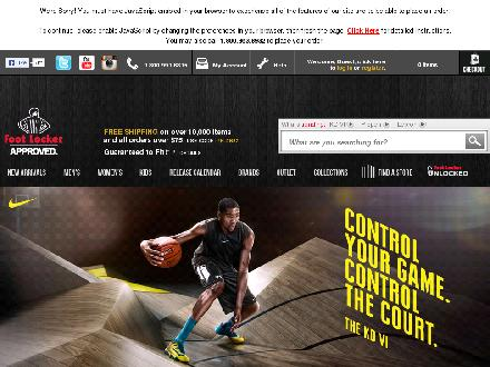 Footlocker.com - Website thumbnail - http://www.footlocker.com
