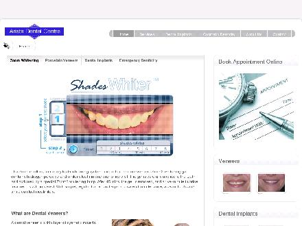 Arista Dental Centre (519-341-9525) - Onglet de site Web - http://www.aristadental.com