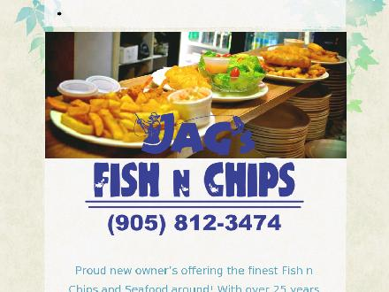 Henry Fish & Chips (289-401-0012) - Onglet de site Web - http://www.jagsfishnchips.com
