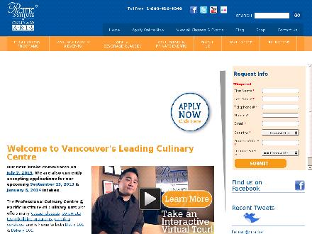 Pacific Institute Of Culinary Arts (604-734-4488) - Website thumbnail - http://www.picachef.com