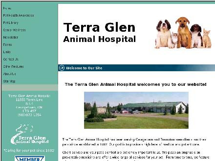 Terra Glen Animal Hospital (905-873-1354) - Onglet de site Web - http://www.terraglen.com
