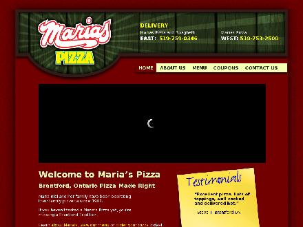 Maria's Pizza (519-759-0346) - Website thumbnail - http://www.mariaspizza.ca