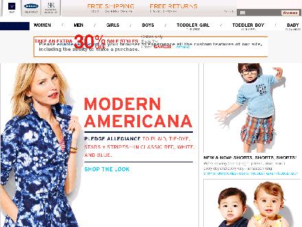 Gap.ca - Website thumbnail - http://www.gapcanada.ca