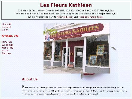 Les Fleurs Kathleen (905-876-1000) - Onglet de site Web - http://www.lesfleurskathleen.com