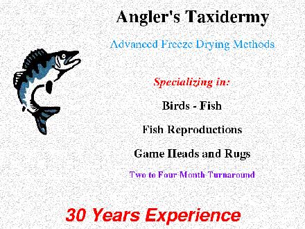 Anglers Taxidermy (250-741-1515) - Website thumbnail - http://www.anglerstaxidermy.com