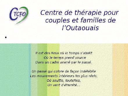 Centre De Therapie Pour Couple Et Famille De L'Outaouais (819-777-7711) - Onglet de site Web - http://WWW.CTCFO.COM