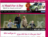 A Maid For A Day (403-767-0969) - Onglet de site Web - http://www.amaidforaday.ca